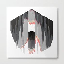 Molten Hexagon Metal Print