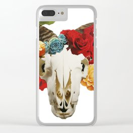 Rose Horns Clear iPhone Case