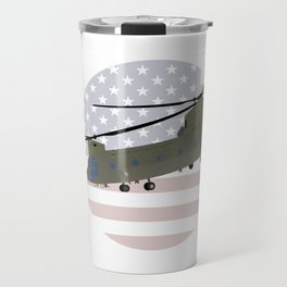 Military CH-47 Chinook Helicopter Travel Mug