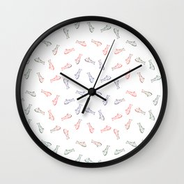 rainbow pizza pattern seamless Wall Clock