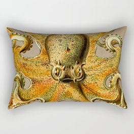 Vintage Golden Octopus Rectangular Pillow