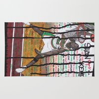 nba Area & Throw Rugs featuring NBA PLAYERS - Shawn Kemp by Ibbanez