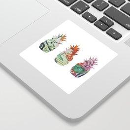 3 pineapples fabric Sticker