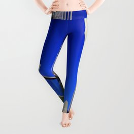 Blue Night Abstract Leggings