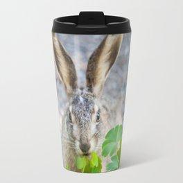 Rabbit Having Lunch Travel Mug
