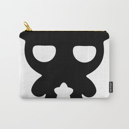 Cute Lazy Bear Black and White Carry-All Pouch