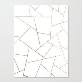 Rose Gold White Geometric Glam #1 #geo #decor #art #society6 Canvas Print