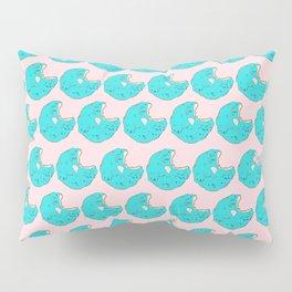 Teal Sprinkled Donut Pillow Sham