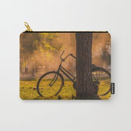 Bicylce Resting against a Tree Carry-All Pouch