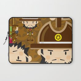 Cartoon Cowboy Sheriff Pattern Laptop Sleeve