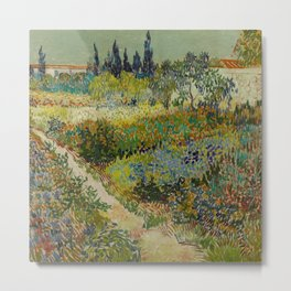 Vincent van Gogh's Garden at Arles Metal Print