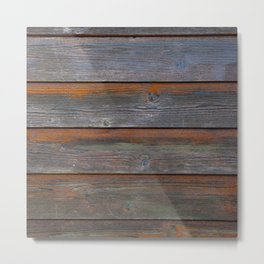 Rustic Wood Panel Boards Aged in Wyoming Metal Print
