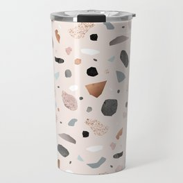 Terrazzo Stone Confetti blush Travel Mug