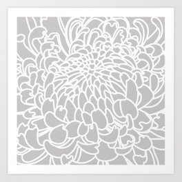 Gray Chrysanth Art Print