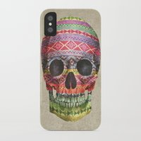 navajo iPhone & iPod Cases featuring Navajo Skull  by Terry Fan