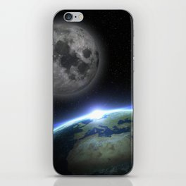 Earth and moon iPhone Skin