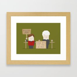 Down with this sort of thing Framed Art Print