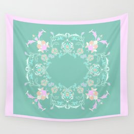 pink and pastel medalion Wall Tapestry