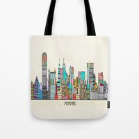 memphis Tote Bags featuring Memphis city by bri.buckley