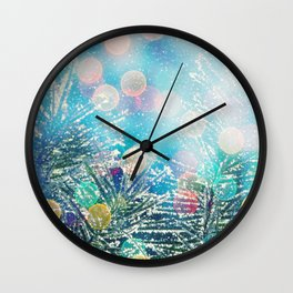Happy Holidays Wall Clock