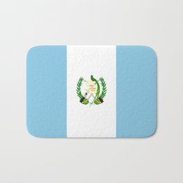 Flag of Guatemala- Guatemalan, Mixco,Villa Nueva,Petapa,tropical,central america,spanish,latine Bath Mat