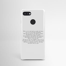 As You Like It x Sonnet XVIII Android Case