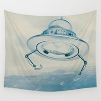 ufo Wall Tapestries featuring UFO III by Grafiskanstalt