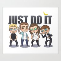 cyrilliart Art Prints featuring Just 1Do It by Cyrilliart