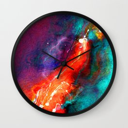 Freedom Abstract Letter Wall Clock