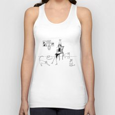 cat lady Unisex Tank Top