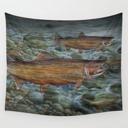 Steelhead Trout Migration in Fall Wall Tapestry