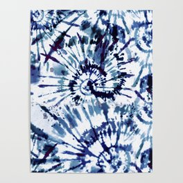 Blue Dye and Tie Poster