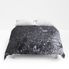 Black and Gray Glitter Bomb Comforters