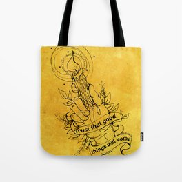 Candle Light Hope (Yellow Colors) Tote Bag