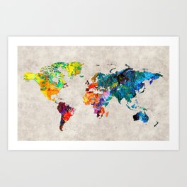 World Map 48 Art Print