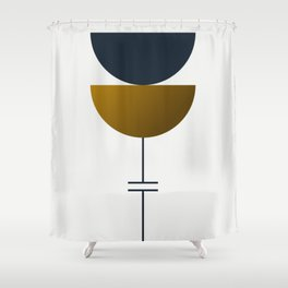 Soir 06 // ABSTRACT GEOMETRY MINIMALIST ILLUSTRATION Shower Curtain