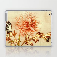 peach and golden floral Laptop & iPad Skin