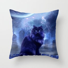 The Witches Familiar Throw Pillow