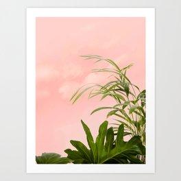 Minimal Botanical #digitalart #nature Art Print