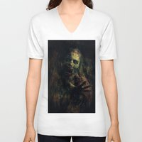 zombie V-neck T-shirts featuring Zombie by Sirenphotos