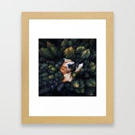 nature hugs. Framed Art Print