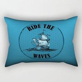 Ride the Waves Rectangular Pillow