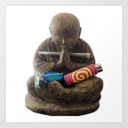 Weed's Bouddha Art Print