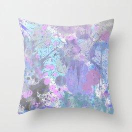 Dull Splatter Throw Pillow