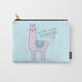 llama unicorn llamacorn pink lama alpaca funny cute gift Carry-All Pouch