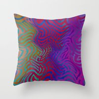vertigo Throw Pillows featuring Vertigo by RingWaveArt