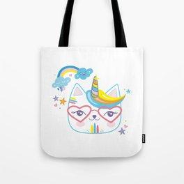 caticorn unicorn crazy cat lady unicat gift kawaii tee shirt Tote Bag