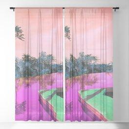 Pool Weekend Sheer Curtain