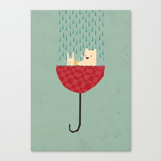 umbrella bath time! Canvas Print