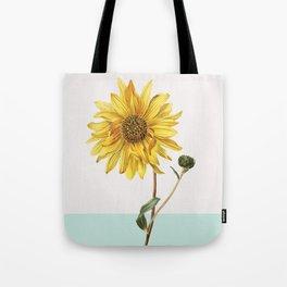 Sunflower Mid Century Botanical Tote Bag
